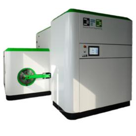 Vue de face d'une amchine de nettoyage au CO2 Super critique fabriquée par la société DFD