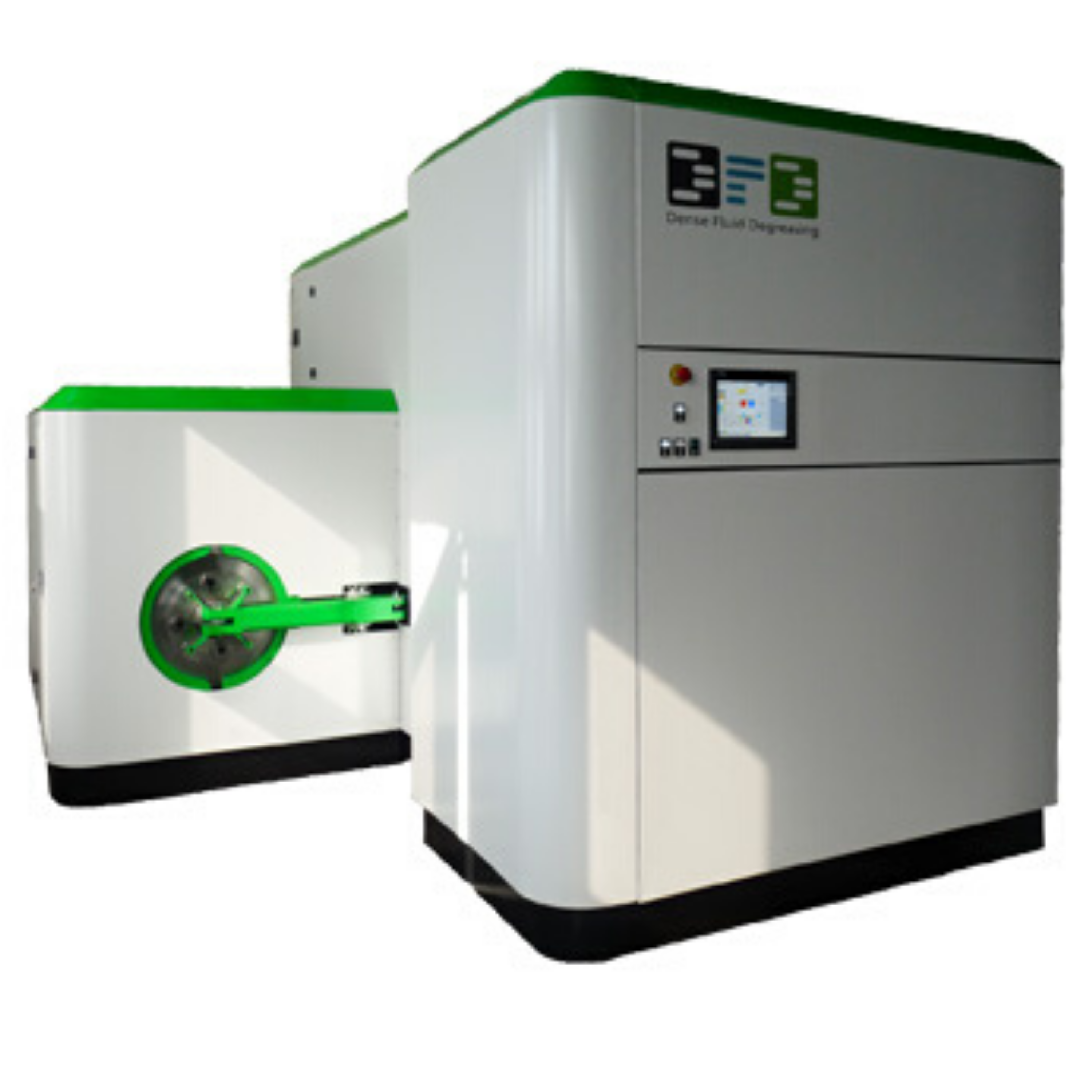 Front view of a supercritical CO2 cleaning machine manufactured by the company DFD