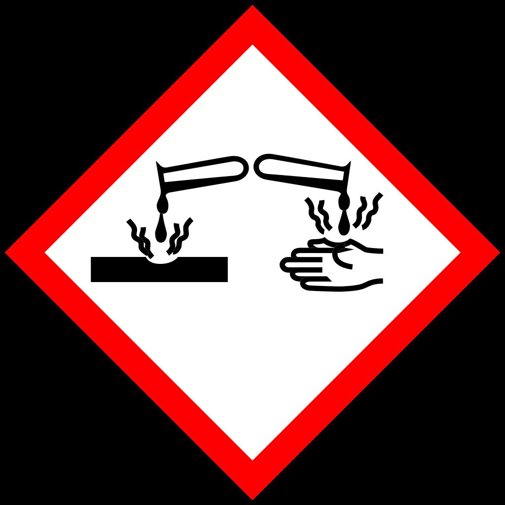 Corrosive product logo