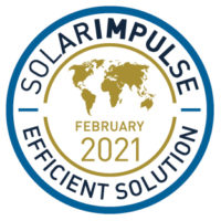 Solar Impulse Efficent Solution Label obtained by DenseFluidDegreasing for its Supercritical CO2 cleaning machines